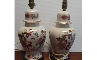 Pair of Mason Table Lamps (40cm high)