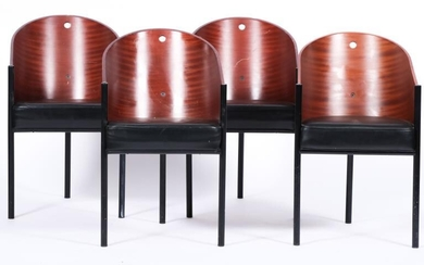 Philippe Starck (Paris 1949), Four Costes-chairs, designed in: 1982, produced by: Driade (from 1985).