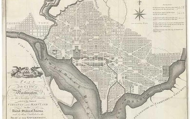 Plan of the City of Washington in the Territory of Columbia, ceded by the States of Virginia and Maryland to the United States of America, and by them established as the Seat of their Government after the Year 1800.