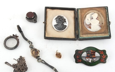 Property of a lady - a bag containing assorted jewellery ite...