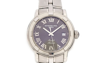 Raymond Weil: Gentleman's wristwatch of steel. Model Parsifal ref. 2941-ST-00608. Automatic movement with date. Case diam. 40 mm.