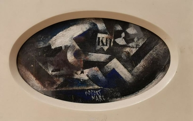 Robert Marc 1943-1993 (French) Composition cubiste oil