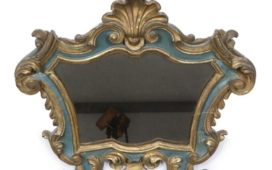SMALL MIRROR IN LACQUERED WOOD 18TH CENTURY