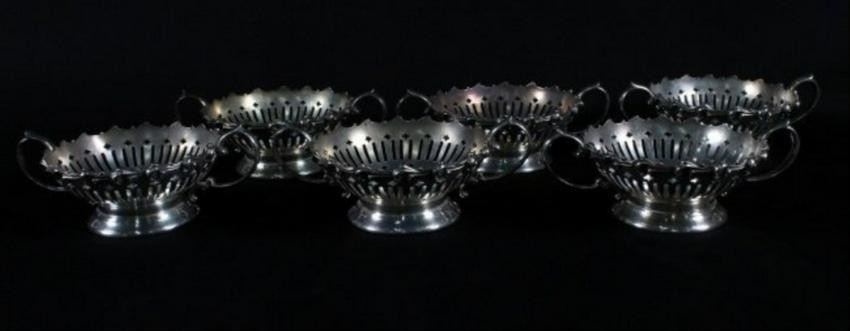 Set Of 6 Sterling Silver Ramekin Holder