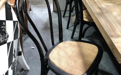Set of 6 Black Stackable Bentwood Chairs