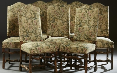 Set of Eight French Louis XV Style Upholstered Side