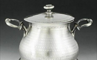 Spanish sterling silver sugar bowl