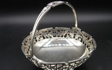 Sterling Silver Mappin & Webb dish of basket form hallmarked...