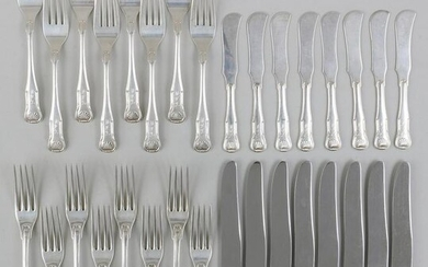 Sterling silver flatware service for eight, S. Kirk &