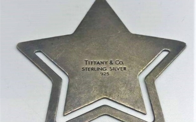 TIFFANY & CO Sterling Silver .925 Star Book Marker