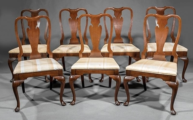 Ten Queen Anne-Style Mahogany Dining Chairs