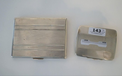 Two silver cigarette cases, 800 and 835, l. 8 and 10 cm, appr. 185 grams (2x)