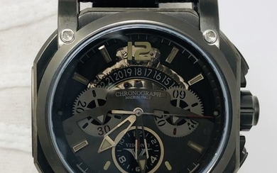 """Visconti - Automatic Watch 2-Squared Chrono Dark-Cloud - SharkSkin Strap - Limited Edition - KW35-05 """"NO RESERVE PRICE"""" - Men - NEW"""