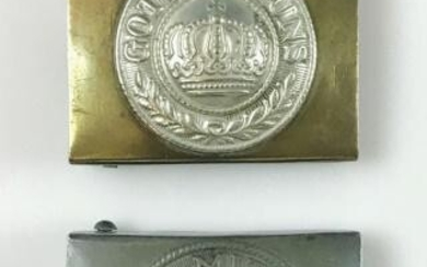 WW1 German Imperial Army Belt Buckles, (2pc)