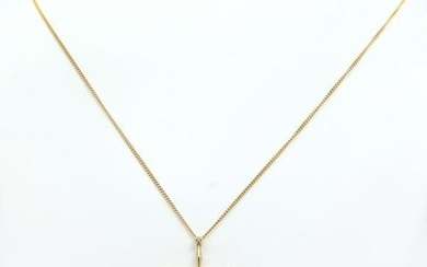 14K JABEL CROSS ON 19'' CABLE LINK CHAIN