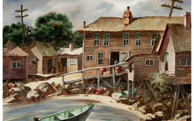 27044: Henry Martin Gasser (American, 1909-1981) Waterf