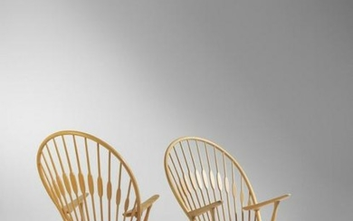Hans Wegner Pair of Peacock Lounge Chairs P.P. Mobler,