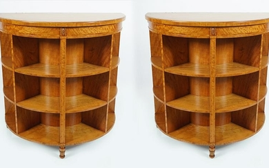PAIR OF SATINWOOD & INLAID PIER CABINETS