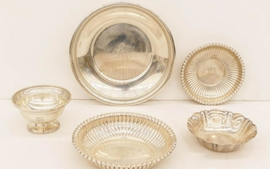 5pc Gorham American Sterling Bowls. Includes a pedestal