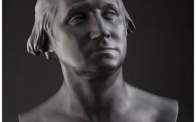 61044: A Wedgwood Basalt Bust of George Washington Afte