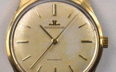 9ct gold Jaeger LeCoultre automatic wristwatch. Back stamped...