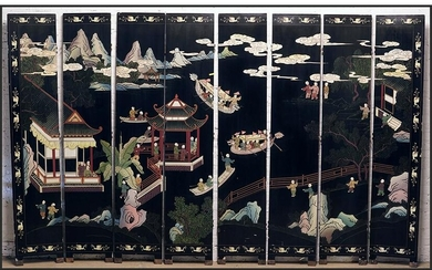 A Chinese Eight-Panel Screen.