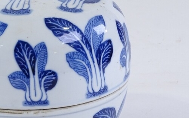 A Chinese blue and white porcelain bowl and cover, with pak ...