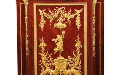 A FRENCH ORMOLU-MOUNTED MAHOGANY BASSE ARMOIRE, BY EUGENE FRAGER, MAISON MEYNARD, PARIS, CIRCA 1890
