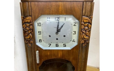 A French Art Deco style wall clock by VedetteCONDITION: We d...
