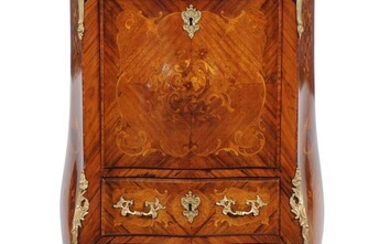 A French kingwood and marquetry inlaid secretaire a abattant