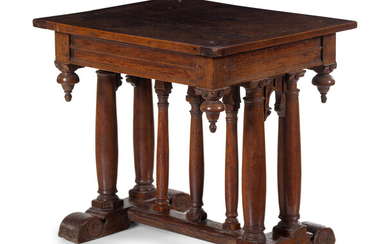 A French or Italian Carved Walnut Side Table