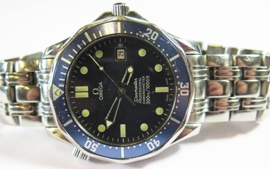 A Gent's Omega Seamaster Steel Cased Automatic Wristwatch, 4...