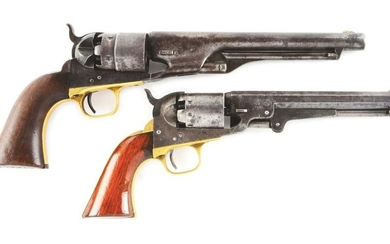(A) LOT OF TOW: BRACE OF CIVIL WAR PERIOD COLT AND