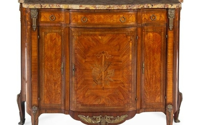 A Louis XV/XVI Transitional Style Parquetry and