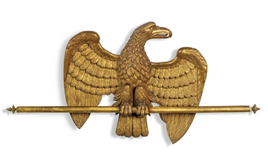 A NORTH EUROPEAN GILTWOOD MODEL OF AN EAGLE, EARLY 19TH CENTURY