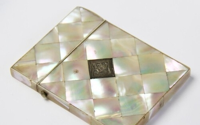 A Victorian mother of pearl visiting card case, late 19th ce...