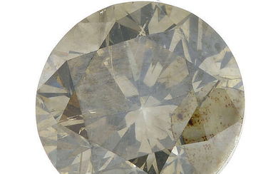 A brilliant-cut 'fancy brown-greenish yellow' diamond, weighing 2cts.