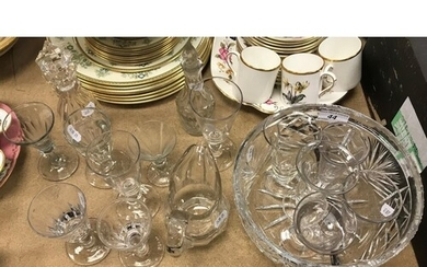 A collection of various 19th Century and other glassware inc...