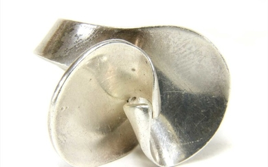 A sterling silver Georg Jensen ring