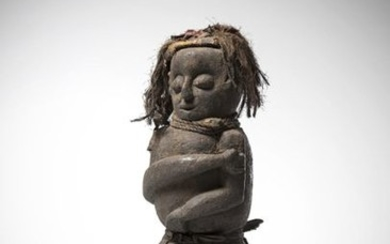 AMBETE or related, Gabon. Old female statue covered...