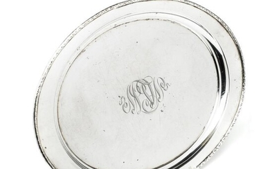 AN AMERICAN SILVER TRAY, EARLY 20TH CENTURY - oval,...