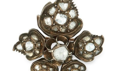 AN ANTIQUE GEORGIAN DIAMOND BROOCH, EARLY 19TH CENTURY