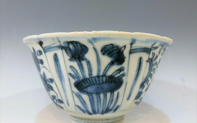 CHINESE ANTIQUE BLUE WHITE BOWL - MING WANLI PERIOD