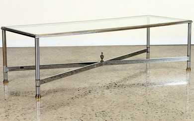 CHROME BRASS COFFEE TABLE MANNER JANSEN C.1970