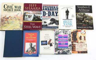 CIVIL WAR AND US HISTORY BOOK LOT OF 10