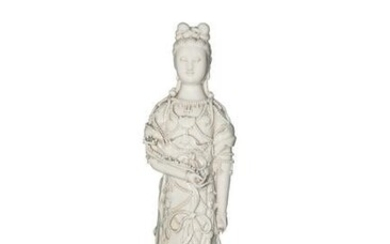 Chinese Blanc de Chine Guanyin Statue, 19th Century