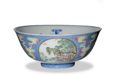 Chinese Famille Rose Bowl, Republic