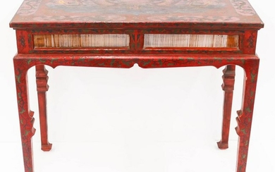 Chinese Lacquered Dragon Altar Table