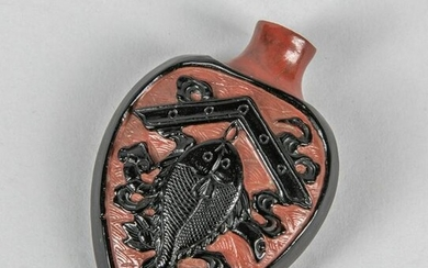 Chinese Old Glass Overlay Snuff Bottle