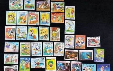 Disney Stamp Series From Multiple Countries Lot 60